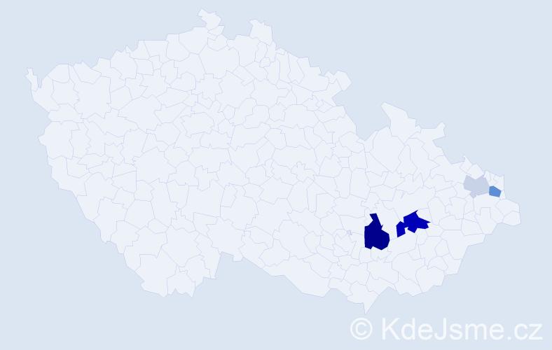 Příjmení: 'Graplová', počet výskytů 10 v celé ČR
