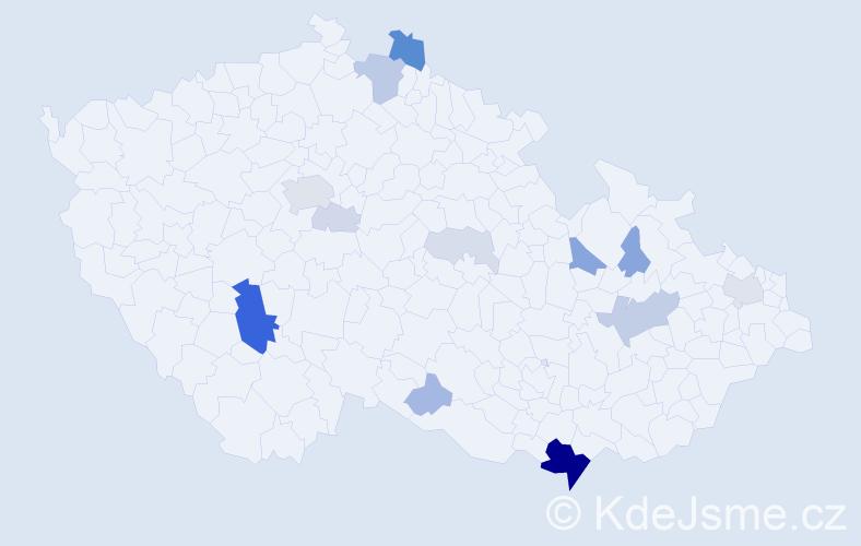 Příjmení: 'Čuková', počet výskytů 50 v celé ČR