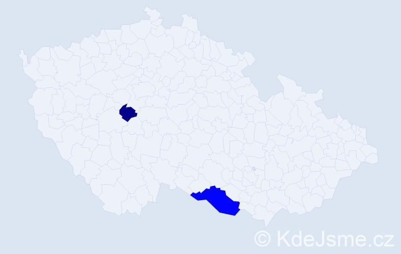Příjmení: 'Guillenová', počet výskytů 4 v celé ČR