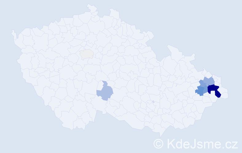 Příjmení: 'Dětský', počet výskytů 28 v celé ČR