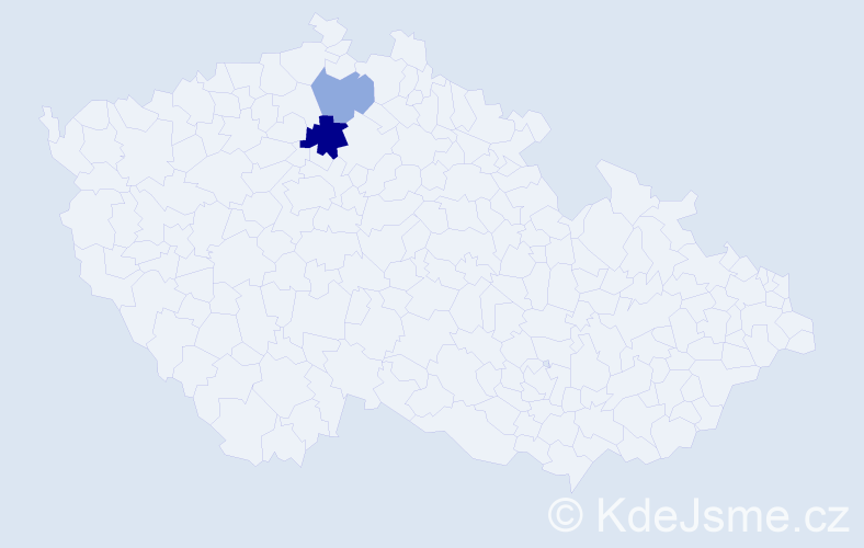Příjmení: 'Básnerová', počet výskytů 4 v celé ČR