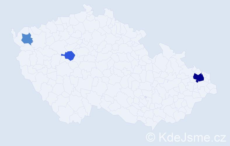 Příjmení: 'Igariová', počet výskytů 8 v celé ČR