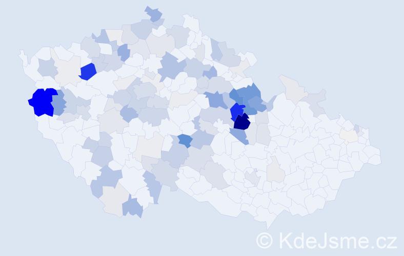 Příjmení: 'Bubnová', počet výskytů 398 v celé ČR