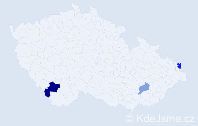 Příjmení: 'Illyová', počet výskytů 6 v celé ČR