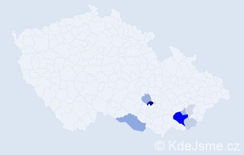 Příjmení: 'Lancouch', počet výskytů 23 v celé ČR