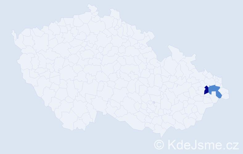 Příjmení: 'Bodzsar', počet výskytů 2 v celé ČR