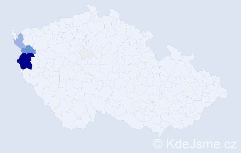 Příjmení: 'Chmelarčík', počet výskytů 7 v celé ČR