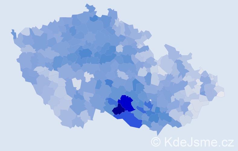 Příjmení: 'Svobodová', počet výskytů 26390 v celé ČR