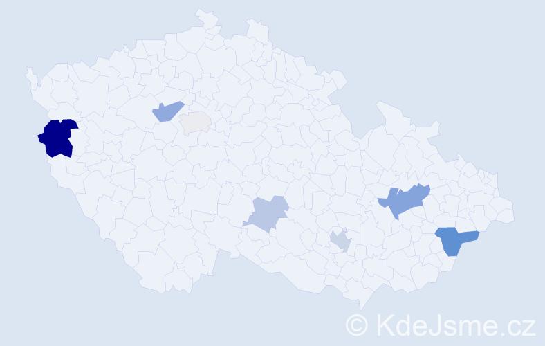Příjmení: 'Brambor', počet výskytů 16 v celé ČR