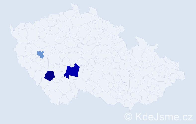 Příjmení: 'Hablowetz', počet výskytů 7 v celé ČR
