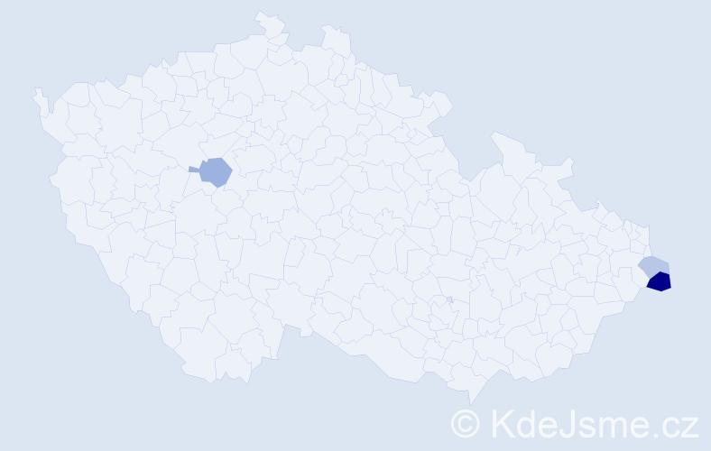 Příjmení: 'Karpecki', počet výskytů 12 v celé ČR