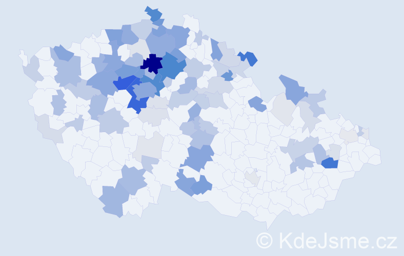 Příjmení: 'Kettner', počet výskytů 366 v celé ČR