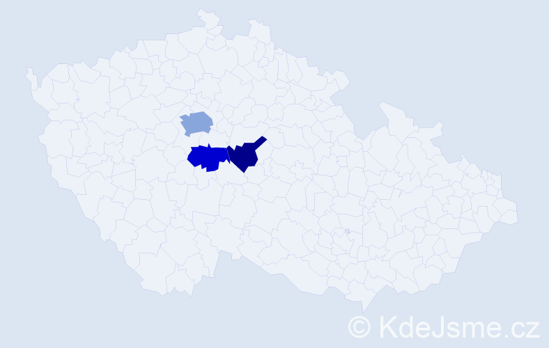 Příjmení: 'Cernšteinová', počet výskytů 5 v celé ČR
