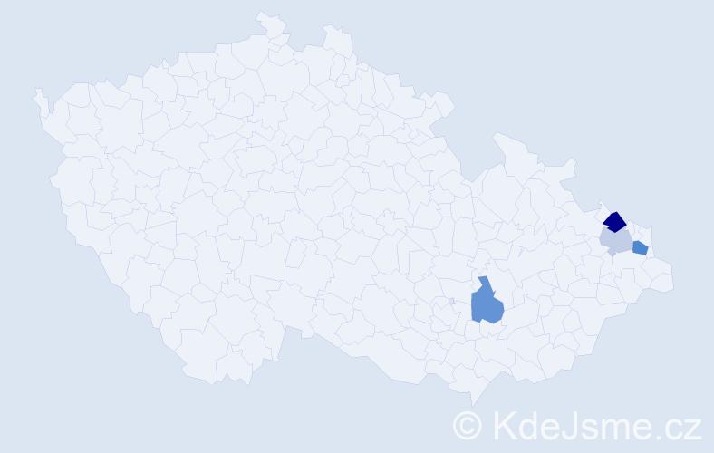 Příjmení: 'Barbírik', počet výskytů 6 v celé ČR