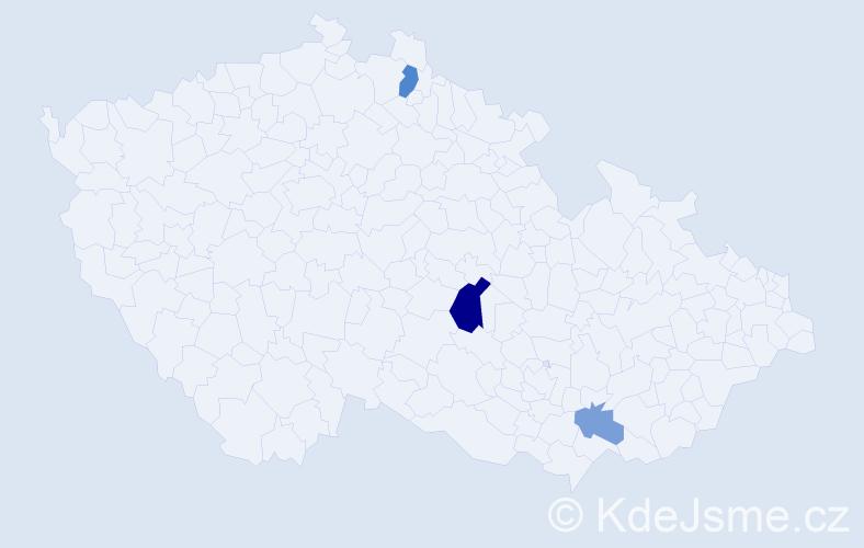 Příjmení: 'Hajátko', počet výskytů 16 v celé ČR