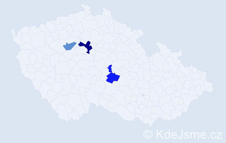 Příjmení: 'Žiaranová', počet výskytů 4 v celé ČR