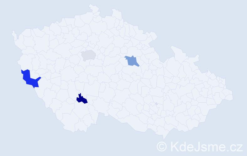 Příjmení: 'Groeszelová', počet výskytů 7 v celé ČR