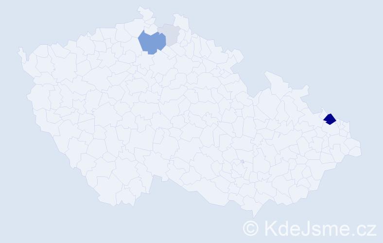 Příjmení: 'Czichonová', počet výskytů 13 v celé ČR