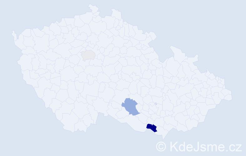 Příjmení: 'Janůfka', počet výskytů 7 v celé ČR