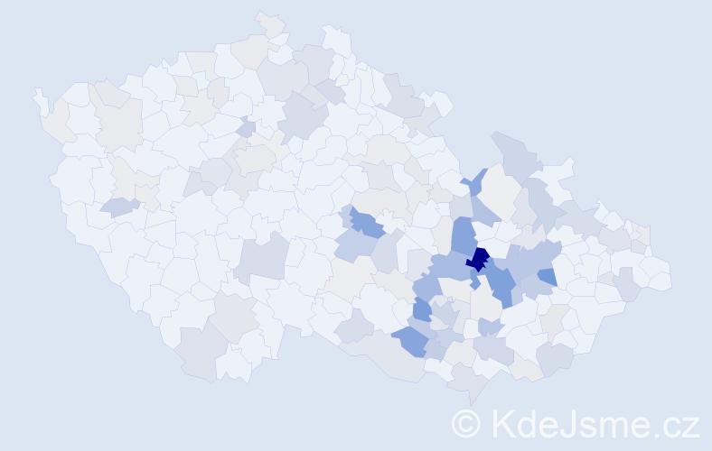 Příjmení: 'Antl', počet výskytů 406 v celé ČR
