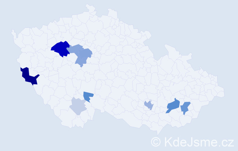 Příjmení: 'Baziková', počet výskytů 41 v celé ČR