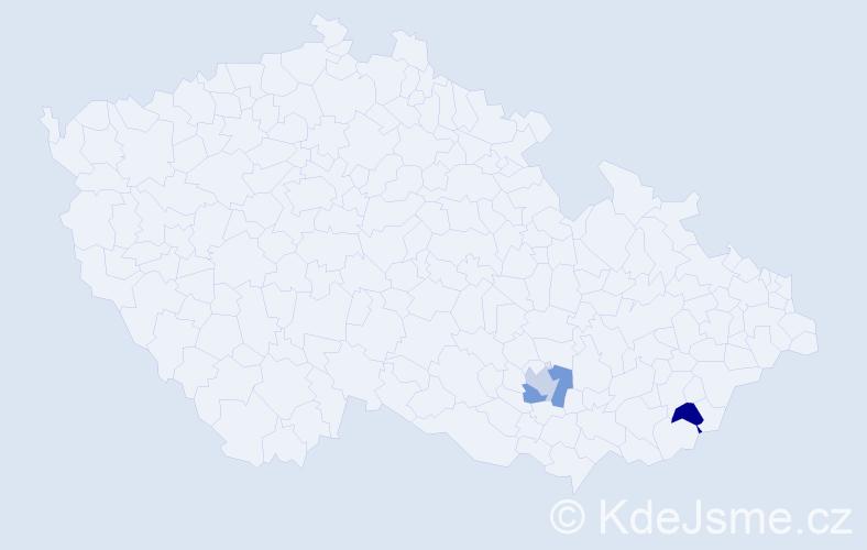Příjmení: 'Kailer', počet výskytů 9 v celé ČR