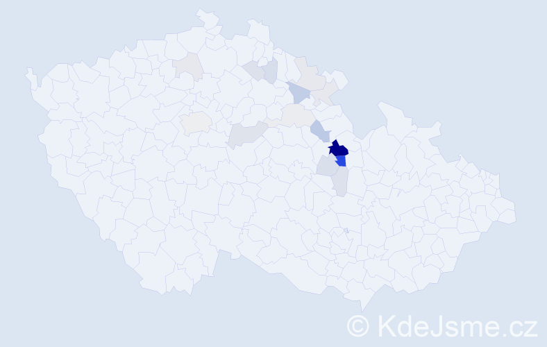 Příjmení: 'Jebousek', počet výskytů 48 v celé ČR