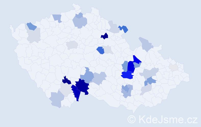 Příjmení: 'Ille', počet výskytů 99 v celé ČR
