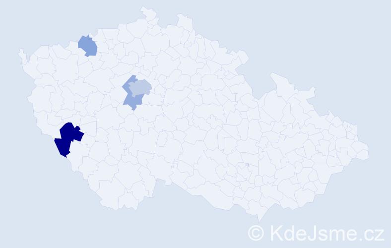 Příjmení: 'Illetšková', počet výskytů 9 v celé ČR