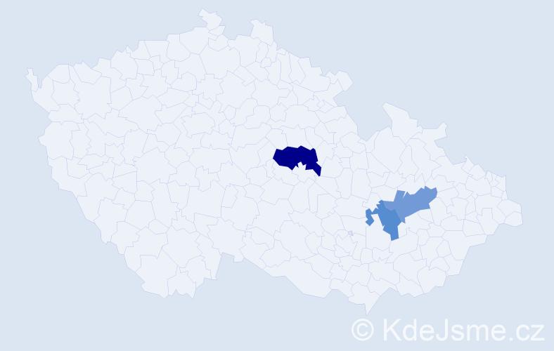 Příjmení: 'Basár', počet výskytů 4 v celé ČR