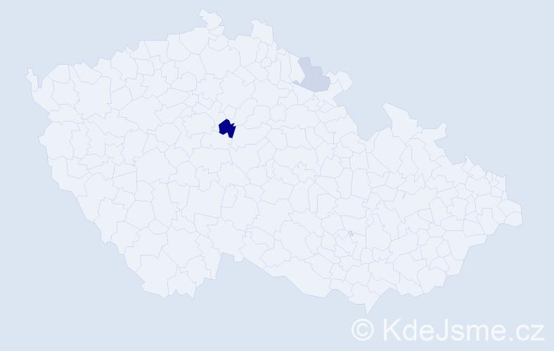 Příjmení: 'Hönigsfeldová', počet výskytů 5 v celé ČR