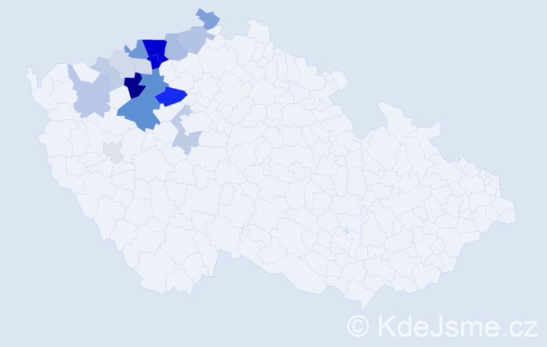 Příjmení: 'Čečrlová', počet výskytů 60 v celé ČR