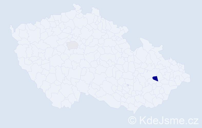 Příjmení: 'Gondár', počet výskytů 2 v celé ČR