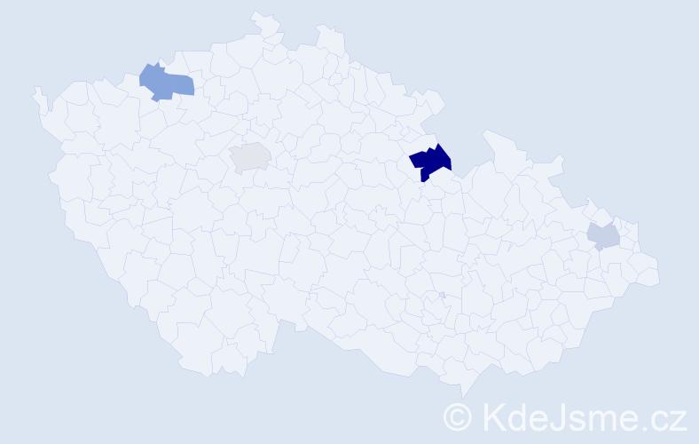 Příjmení: 'Halbgebauerová', počet výskytů 6 v celé ČR