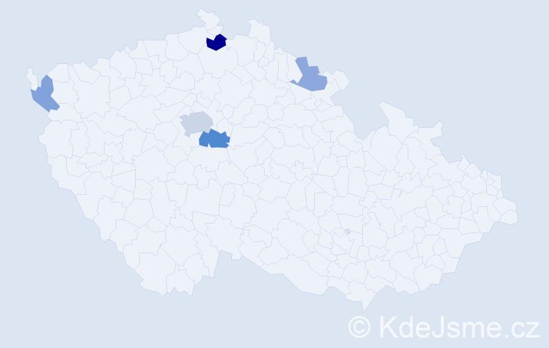 Příjmení: 'Golecká', počet výskytů 10 v celé ČR