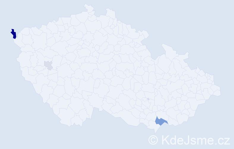 Příjmení: 'Lábadiová', počet výskytů 7 v celé ČR