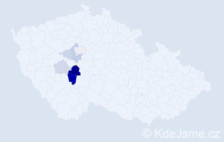 Příjmení: 'Kolingrová', počet výskytů 15 v celé ČR