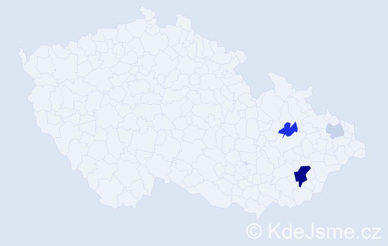 Příjmení: 'Koupelková', počet výskytů 7 v celé ČR