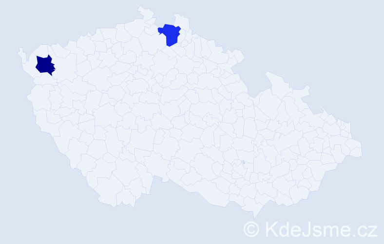 """Příjmení: '""""Ben Dhafer""""', počet výskytů 2 v celé ČR"""