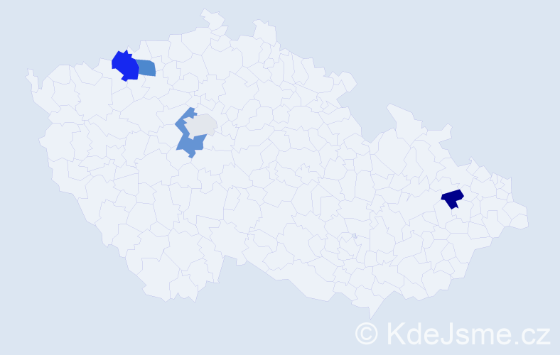 Příjmení: 'Abdelrahman', počet výskytů 9 v celé ČR