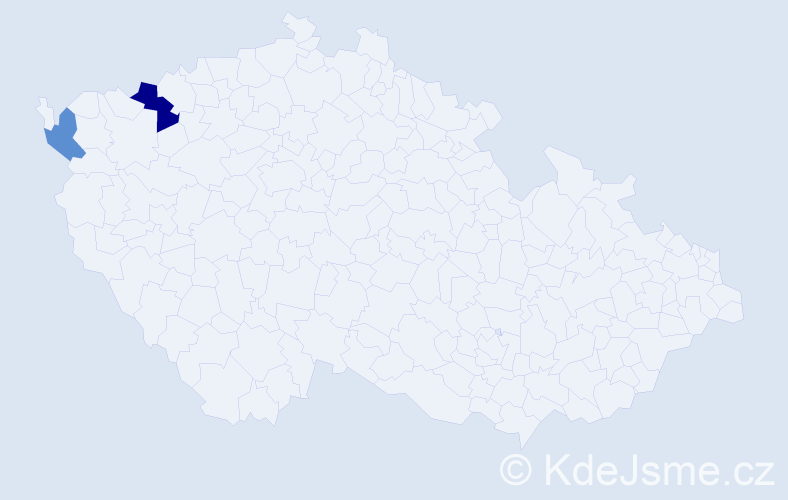 Příjmení: 'Čermuš', počet výskytů 3 v celé ČR