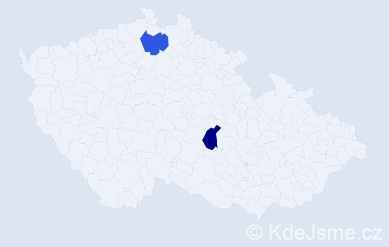 Příjmení: 'Janščáková', počet výskytů 4 v celé ČR
