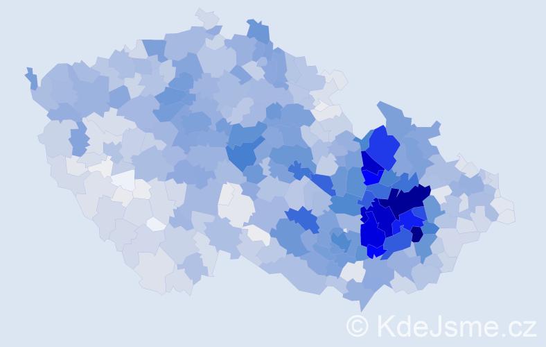 Příjmení: 'Pospíšilová', počet výskytů 11092 v celé ČR