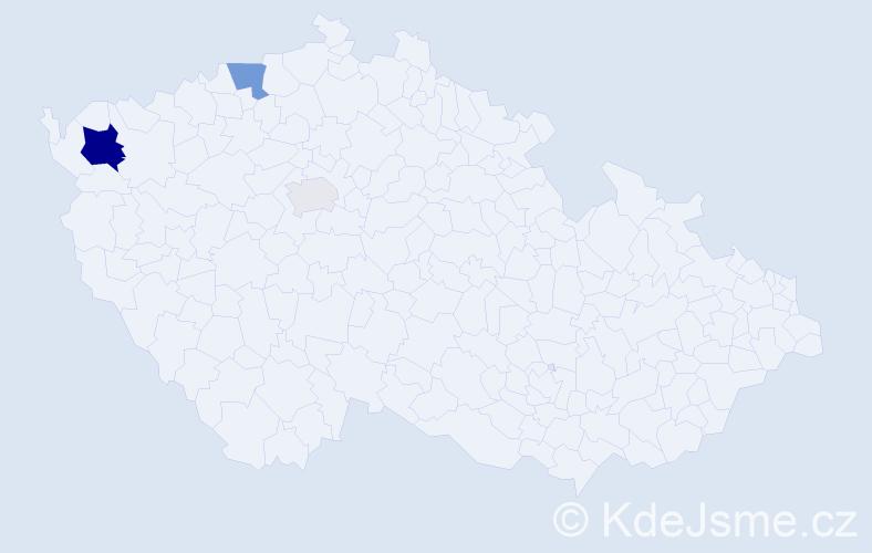 Příjmení: 'Eisenmann', počet výskytů 8 v celé ČR