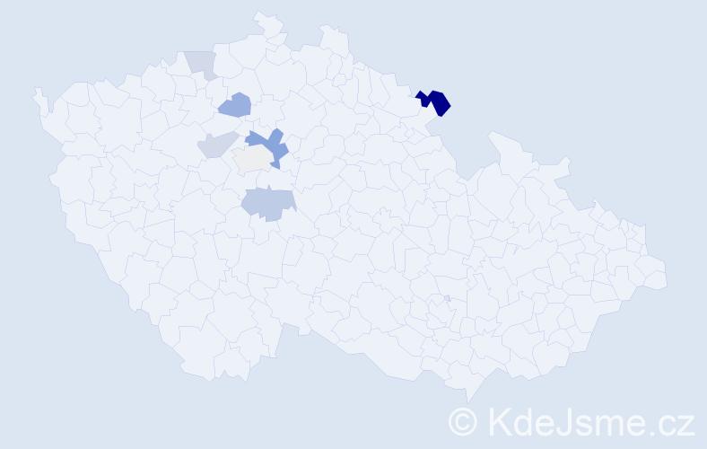 Příjmení: 'Černucký', počet výskytů 11 v celé ČR