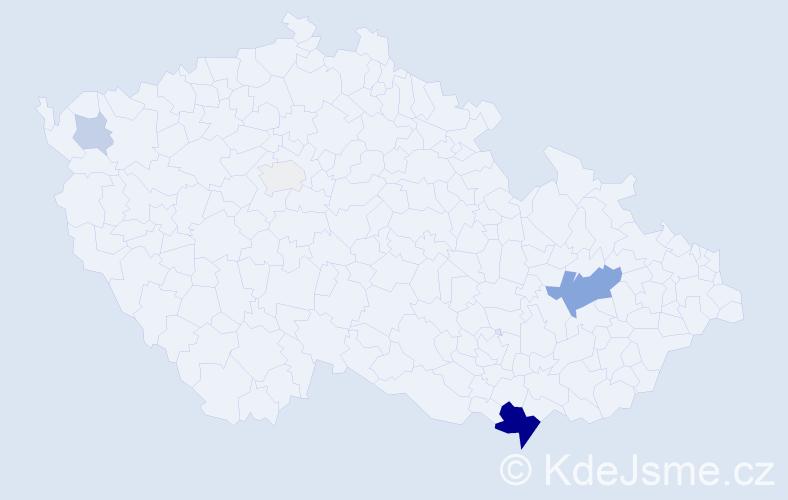 Příjmení: 'Laschke', počet výskytů 15 v celé ČR