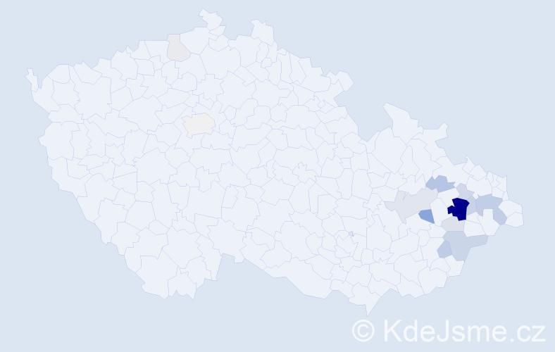 Příjmení: 'Janýška', počet výskytů 48 v celé ČR