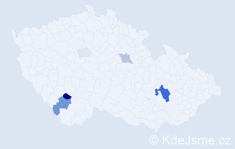 Příjmení: 'Kamenov', počet výskytů 9 v celé ČR