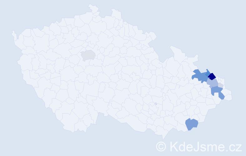 Příjmení: 'Lassak', počet výskytů 36 v celé ČR