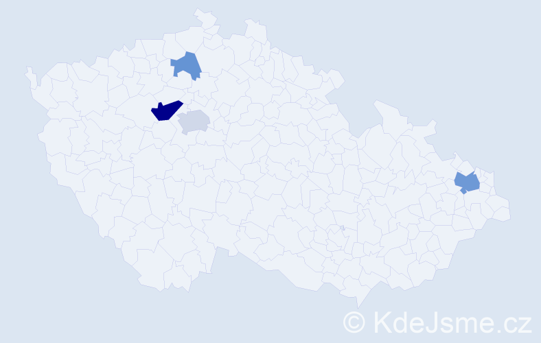 Příjmení: 'Káranský', počet výskytů 10 v celé ČR